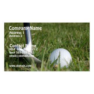 Golfing Photo Business Card