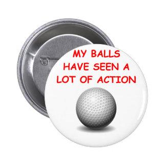 golfing pinback button