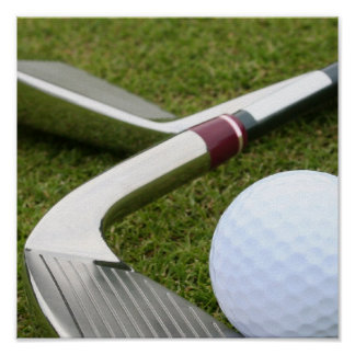 Golfing Poster Print