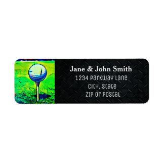 Golfing Return Address Invitation Label