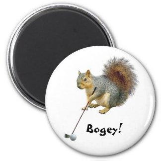 Golfing Squirrel Magnet