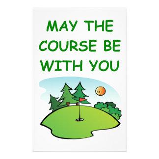 golfing customized stationery