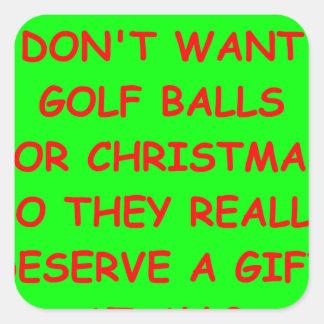 golfing square sticker