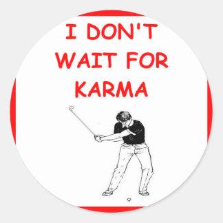 golfing round sticker