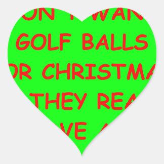 golfing heart stickers