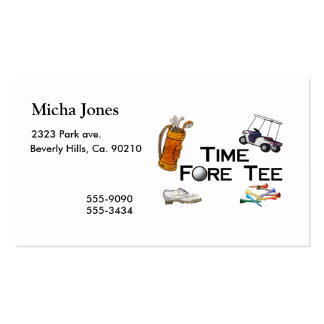 Golfing Time Fore Tee Pack Of Standard Business Cards