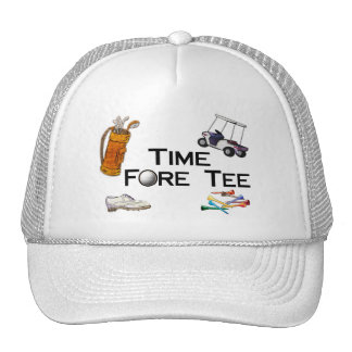 Golfing Time Fore Tee Cap
