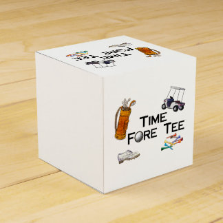 Golfing Time Fore Tee Favour Box
