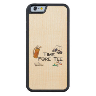 Golfing Time Fore Tee Carved® Maple iPhone 6 Bumper