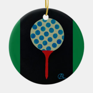 Golf's HOT Round of the Year Keepsake Double-Sided Ceramic Round Christmas Ornament