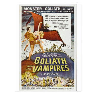 GOLIATH AND THE VAMPIRES POSTCARD