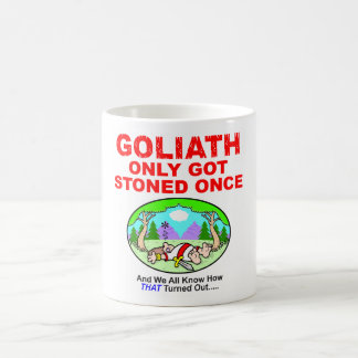 Goliath Only Got Stoned Once Drink Ware Basic White Mug