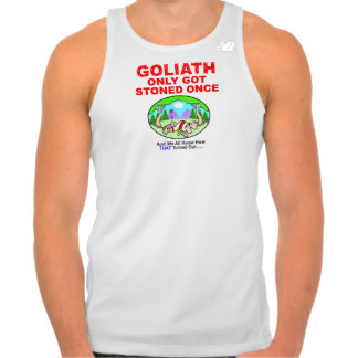 Goliath Only Got Stoned Once Mens Active Wear T Shirt