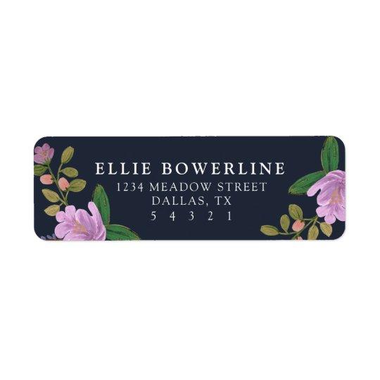 Golightly Floral Return Address Label