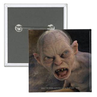 Gollum Close Up 15 Cm Square Badge