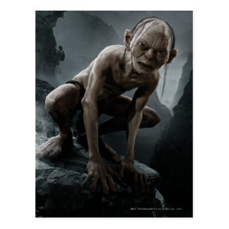 Gollum on a Rock Postcard
