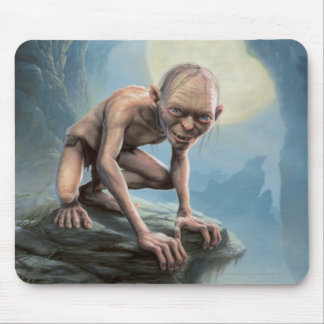 Gollum with Moon Mouse Mat