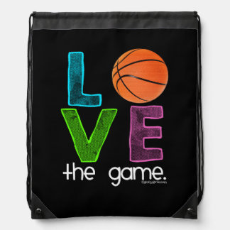 Golly Girls: Basketball - Love the Game Drawstring Bag