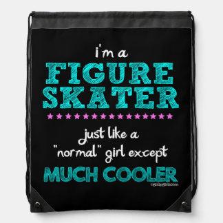 Golly Girls - I'm A Figure Skater Drawstring Backpacks
