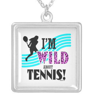 Golly Girls: I'm WILD about TENNIS Silver Plated Necklace