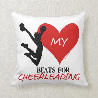 Golly Girls - My Heart Beats for Cheerleading Throw Pillow