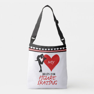 Golly Girls - My Heart Beats for Figure Skating Crossbody Bag