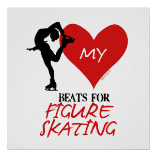 Golly Girls - My Heart Beats for Figure Skating Poster
