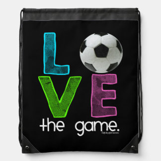 Golly Girls: Soccer - Love the Game Drawstring Bag