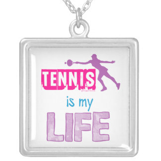 Golly Girls - Tennis is My Life Silver Plated Necklace