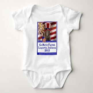 GoMetz Farms Laporte, Indiana  2013 PATRIOTIC GOAT Baby Bodysuit