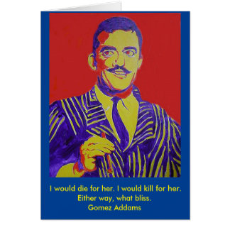 Gomez Addams Addams Family Halloween Blank Card