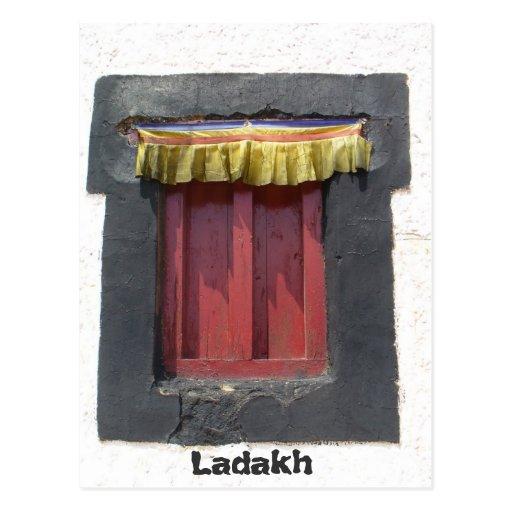 Gompa window, Leh, Ladakh, India Post Cards
