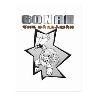 Gonad The Barbarian Postcard