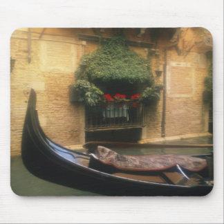 Gondola and Restaurant, Venice, Veneto, Italy Mouse Mat