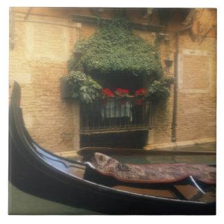 Gondola and Restaurant, Venice, Veneto, Italy Tile