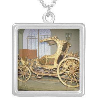 Gondola carriage of Empress Catherine II Square Pendant Necklace