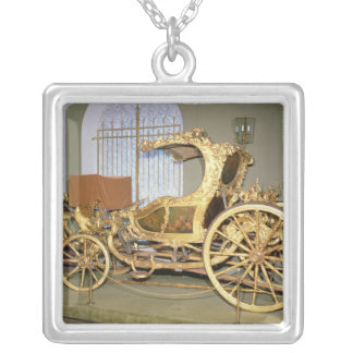 Gondola carriage of Empress Catherine II Silver Plated Necklace