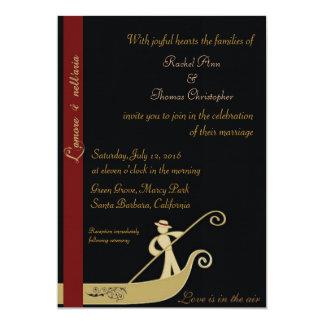 Gondola - Love is in the air 13 Cm X 18 Cm Invitation Card