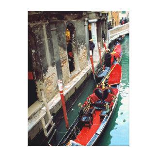 Gondola on a Small Canal Canvas Print