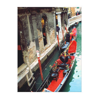 Gondola on a Small Canal Canvas Prints