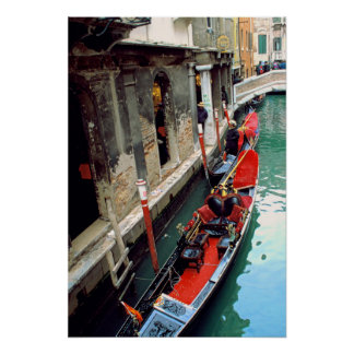 Gondola on a Small Canal Poster