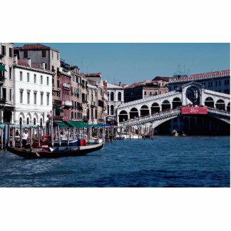 Gondola on the Grand Canal, Rialto Bridge, Venice, Standing Photo Sculpture