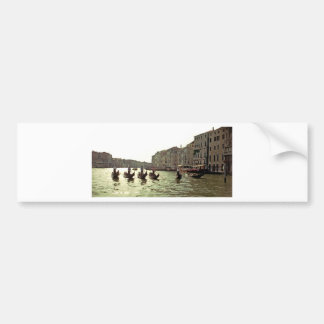 Gondola Race Venice Bumper Sticker