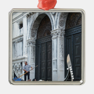 Gondola Silver-Colored Square Decoration