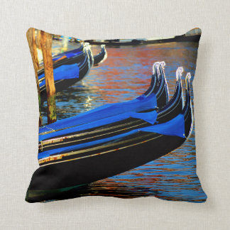 Gondola Station in Venice, Italy Throw Pillow