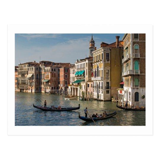 Gondolas and Palaces, Grand Canal, Venice, Italy Postcard