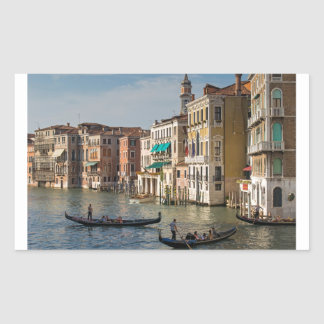 Gondolas and Palaces Grand Canal Venice Italy Rectangle Sticker