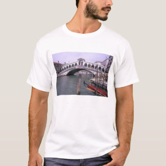 Gondolas and tourists near the Rialto Bridge T-Shirt