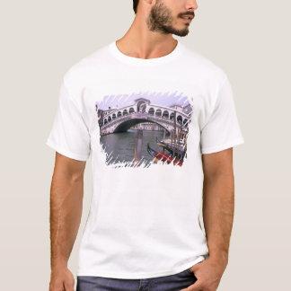 Gondolas and tourists near the Rialto Bridge T-Shirt