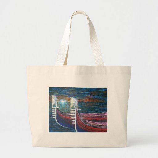 gondolas at sunset canvas bags